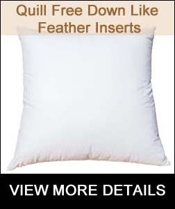 Quill Free Feather Pillow Inserts