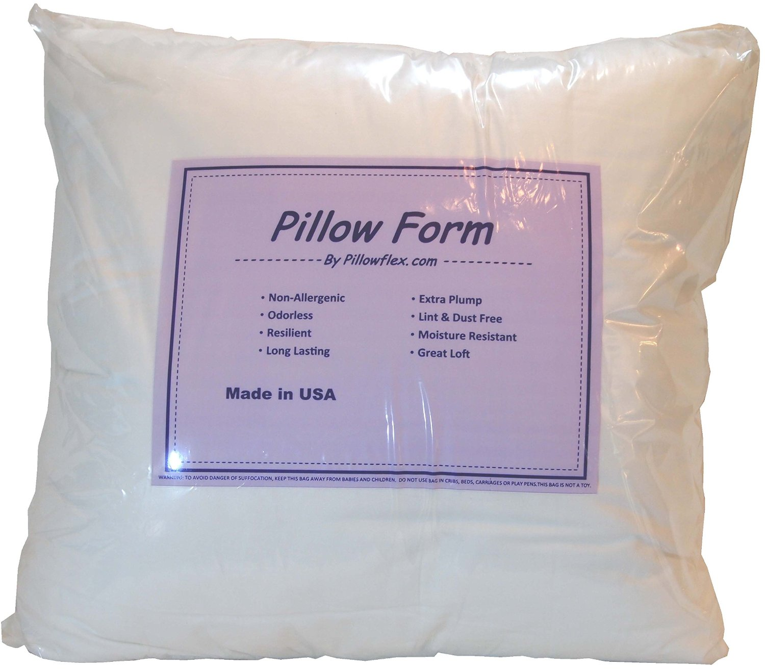phoenix itm polyester cole pillow non cushion face fibre allergenic stuffing king filler smiley filling toy